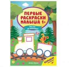Раскраска с наклейками Первые раскраски малыша Что это за транспорт? Феникс
