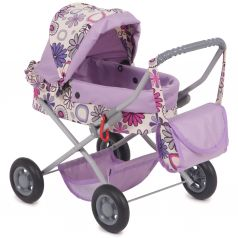 Коляска для кукол Wakart Ева Ева, фиолетовый