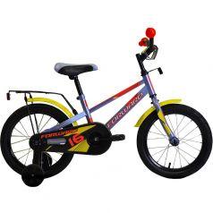 Forward, Велосипед Meteor 18 серо-голубой/желтый