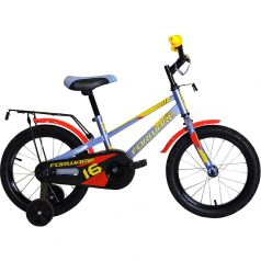 Forward, Велосипед Meteor 16 серо-голубой/желтый