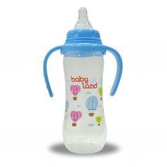 Бутылочка Baby Land с ручками и антиколиковым клапаном, полипропилен, 0-6 мес, 150 мл
