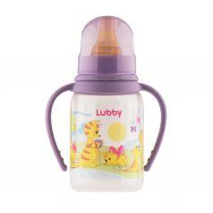 Бутылочка Lubby с ручками, полипропилен, с 0 мес, 125 мл