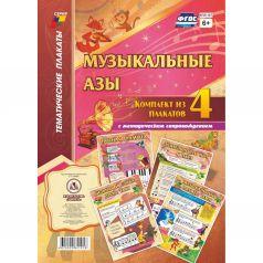 Набор плакатов Издательство Учитель Музыкальные азы