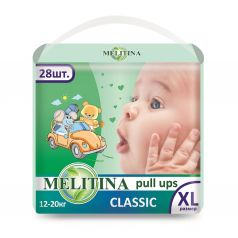 Подгузники-трусики Melitina Cl, XL, 5, 28 шт, 12-20 кг