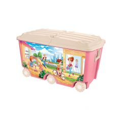 Ящик для игрушек Бытпласт с декором