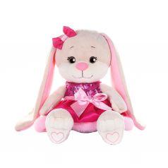 Игрушка мягкая Jack&Lin Зайка в Розовом Платьице с Пайетками и Мехом 20 см