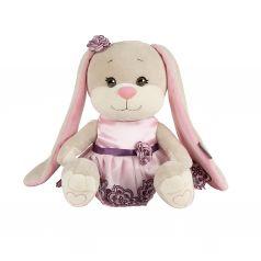 Мягкая игрушка Jack&Lin Зайка в Вечернем Розовом Платье 25 см