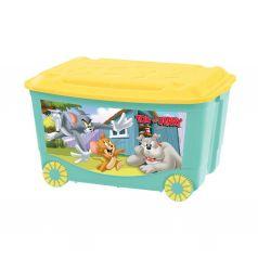 Ящик универсальный Tom and Jerry для игрушек на колесах с аппликацией,47 л
