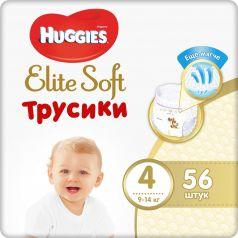 Подгузники-трусики Huggies Elite Soft, р. 4, 9-14 кг, 56 шт
