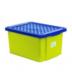 Детский ящик для хранения игрушек LITTLE ANGEL START 17л фисташковый