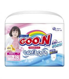 Подгузники-трусики Goon XXL для девочек (13-25 кг) 28 шт.
