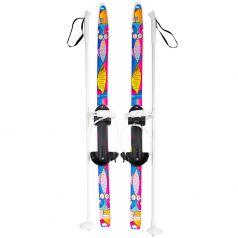 Детские лыжи с палками Олимпик Быстрики Коты (90/90 см)