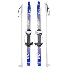 Детские лыжи с палками Олимпик Быстрики Пингвины (90/90 см)