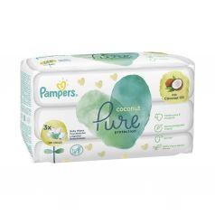 Салфетки влажные Pampers «Pure Coconut» детские, 126 шт