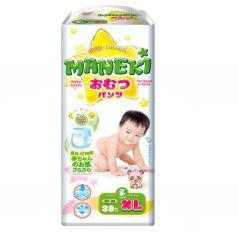 Трусики-подгузники Maneki детские одноразовые, р. 4+, 12+ кг, 38 шт