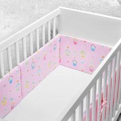 Бортик в кроватку loombee Розовые Домики