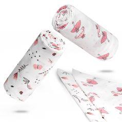 Детские муслиновые пеленки (118х118 см, 2 шт) и салфетки (30х30 см, 2 шт) для новорожденных | Розовые Принцессы