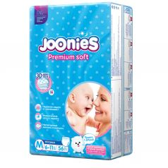 Трусики-подгузники Joonies Premium Soft, р. 3, 6-11 кг, 56 шт