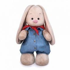 Мягкая игрушка Budi Basa Зайка Ми в джинсовом комбинезоне 25 см