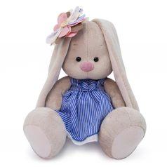 Мягкая игрушка Budi Basa Зайка Ми с полосатым цветком 18 см