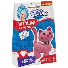 Набор для творчества Bondibon Ёлочные игрушки из фетра своими руками. Кошка