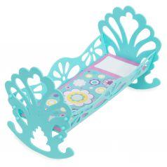 Игрушечная мебель Сборная кроватка-качалка для кукол