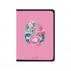 Пластиковая папка на молнии для тетрадей А4+ Erich Krause Rose Flamingo