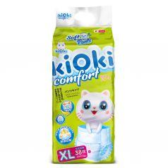 Трусики-подгузники KIOKI дышащие для ежедневного ношения и для сна, р. 4+, 12-16 кг, 38 шт