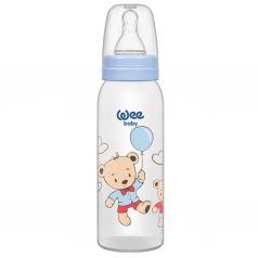 Бутылочка WeeBaby Classic для кормления из ПП 250 мл., с сил. соской р.1, рис. Медвежонок