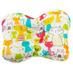 Подушка анатомическая Моей крохе Цветные Кошки