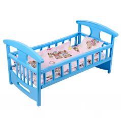 Мебель для кукол Кроватка для кукол с постелькой ГринПласт
