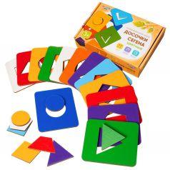 Рамка-вкладыш Raduga Kids Деревянные игрушки Досочки Сегена цветные