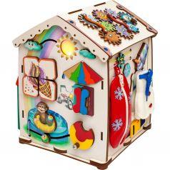 Бизиборд Jolly Kids Домик со светом «Времена года»