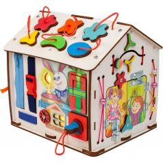 Бизиборд Jolly Kids Домик со светом «Зайка»