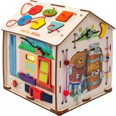 Бизиборд Jolly Kids Домик со светом «Мишка»