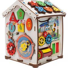Бизиборд Jolly Kids Домик со светом «Паровозик»