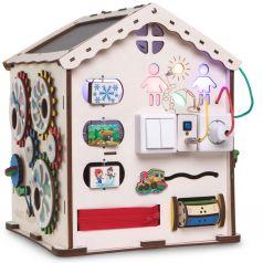 Бизиборд Jolly Kids Развивающий домик со светом