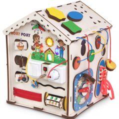Бизиборд Jolly Kids Развивающий домик со светом «Ферма»