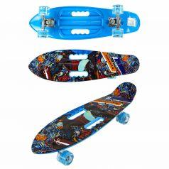 Скейтборд Navigator Графити синий