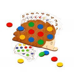 Сортер Raduga Kids Деревянные игрушки Повтори за ежиком, 11 х 14.5 х 0.5