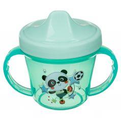 Поильник Пластишка с ручками и декором, для новорожденных
