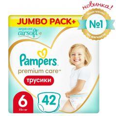 Трусики-подгузники Pampers PremiumCare Pants ExtraLarge, р. 6, 15+ кг, 42 шт