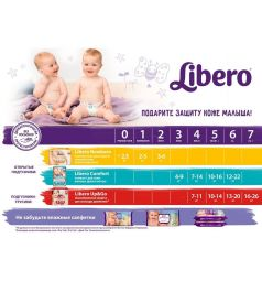 Трусики-подгузники Libero Up&Go Size 4 (7-11 кг) 52 шт.