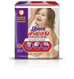 Трусики-подгузники Libero Up&Go Size 7 (16-26 кг) 12 шт.