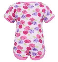 Подарочный набор боди/футболка/брюки/нагрудник/носочки/сетка для стирки Hudson Baby, цвет: розовый