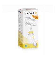 Бутылочка-контейнер Medela полипропилен с рождения, 150 мл, цвет: прозрачный