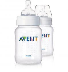 Набор бутылочек Avent Classic полипропилен с 3 мес, 330 мл, цвет: прозрачный