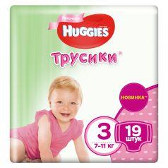 Трусики Huggies для девочек (7-11 кг) 19 шт.
