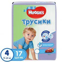 Трусики Huggies 4 для мальчиков (9-14 кг) 17 шт.