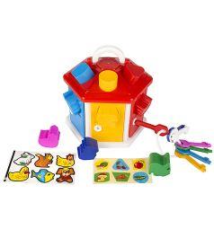Игровой набор Полесье Логический домик красная крышка